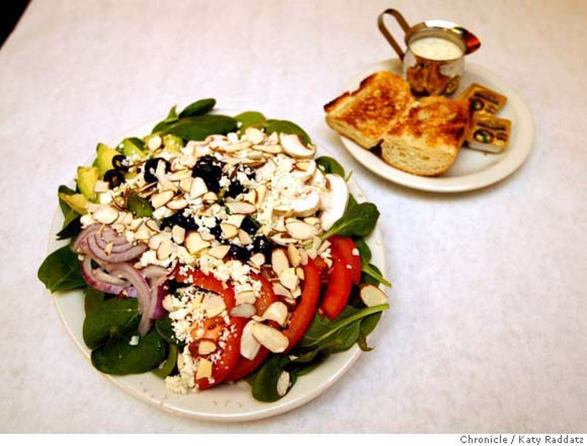 The Spinach Salad, accompanied by house made dressing, at The Bistro in Hayward, Calif. on Wednesday, February 20, 2008. Katy Raddatz/THE CHRONICLE