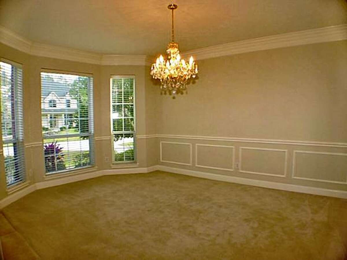 An empty dining room before it has been staged. Virtual staging is gaining ground in today's distressed economy and real estate market. Many for-sale homes are vacant because they're in foreclosure or because the owners have had to move before being able to sell them.