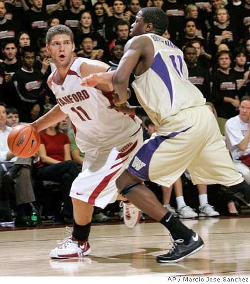 ###Live Caption:Stanford's Brook Lopez, left, is defended by Washington's Matthew Bryan-Amaning in the second half of a college basketball game in Stanford, Calif., Thursday, Feb. 28, 2008. Stanford won 82-79. (AP Photo/Marcio Jose Sanchez)###Caption History:Stanford's Brook Lopez, left, is defended by Washington's Matthew Bryan-Amaning in the second half of a college basketball game in Stanford, Calif., Thursday, Feb. 28, 2008. Stanford won 82-79. (AP Photo/Marcio Jose Sanchez)###Notes:Brook Lopez, Mathew Bryan-Amaning###Special Instructions:EFE OUT Photo: Marcio Jose Sanchez