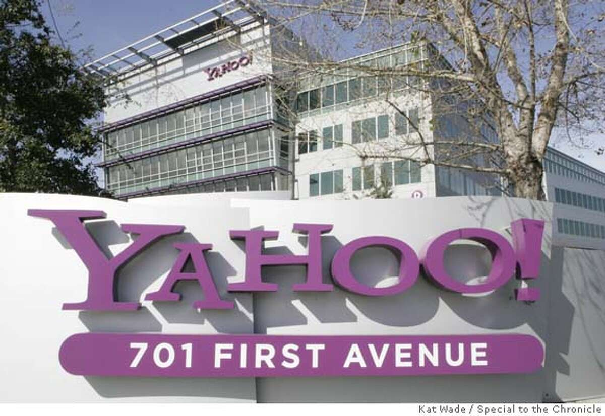 ###Live Caption:YAHOO_REACT02_003_KW.JPG The Yahoo! campus after Microsoft Corp. made a 44.6 billion dollar bid to buy YAHOO! in order to compete with Google Inc.on Friday, February 1, 2008 in Sunnyvale, Calif.. Photo by Kat Wade (CQ, Subject)###Caption History:YAHOO_REACT02_003_KW.JPG The Yahoo! campus after Microsoft Corp. made a 44.6 billion dollar bid to buy YAHOO! in order to compete with Google Inc.on Friday, February 1, 2008 in Sunnyvale, Calif.. Photo by Kat Wade (CQ, Subject) Ran on: 02-15-2008 Yahoos Sunnyvale headquarters will be a little emptier.###Notes:###Special Instructions:Mandatory Credit for photographer, Kat Wade No Sales/Mags out