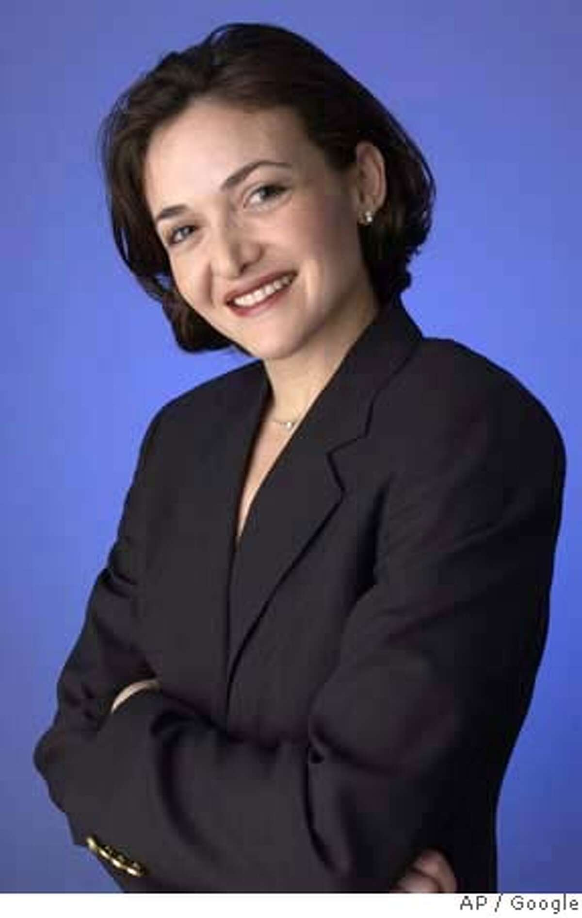 ###Live Caption:This undated photo provided by Google shows former Google executive Sheryl Sandberg. Facebook Inc. has raided Google Inc. to hire a new chief operating officer, providing the popular online social network with more seasoned management and advertising savvy as it strives to make more money without alienating its audience. Sandberg's defection from Google, announced Tuesday March 4, 2008, represents a coup for Facebook just three months after it suffered a humiliating setback in its effort to inject more commercialism into its Web site. (AP Photo/Google) ** NO SALES **###Caption History:This undated photo provided by Google shows former Google executive Sheryl Sandberg. Facebook Inc. has raided Google Inc. to hire a new chief operating officer, providing the popular online social network with more seasoned management and advertising savvy as it strives to make more money without alienating its audience. Sandberg's defection from Google, announced Tuesday March 4, 2008, represents a coup for Facebook just three months after it suffered a humiliating setback in its effort to inject more commercialism into its Web site. (AP Photo/Google) ** NO SALES **###Notes:Sheryl Sandberg###Special Instructions:UNDATED PHOTO PROVIDED BY GOOGLE. NO SALES AP provides access to this publicly distributed HANDOUT photo to be used only to illustrate news reporting or commentary on the facts or events depicted in this image.