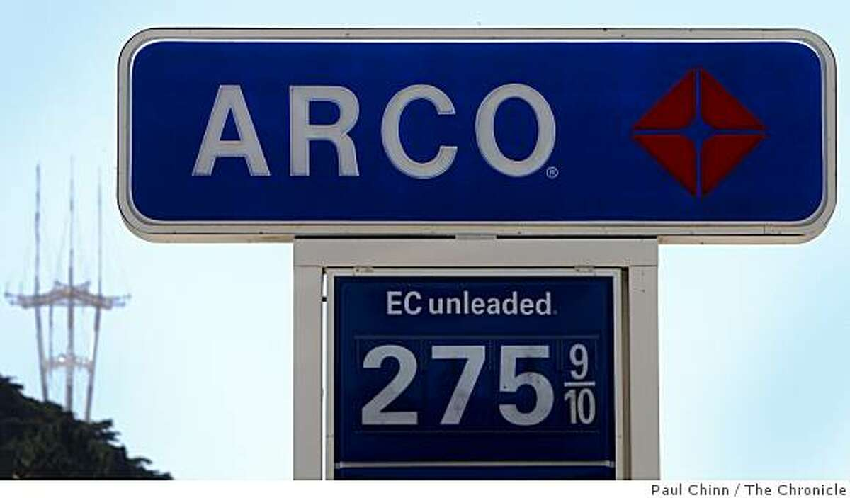 The Arco station at Fell and Divisadero streets has among the lowest prices for a gallon of gas in San Francisco, Calif., on Tuesday, July 14, 2009.
