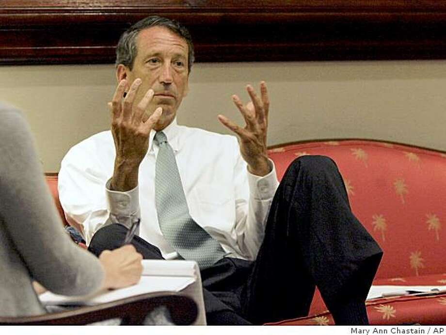 South Carolina Gov. Mark Sanford gestures during an interview with The Associated Press in his office in Columbia, S. C. Tuesday, June 30, 2009. Sanford admitted that there were more encounters with his Argentine mistress than he previously has disclosed.(AP Photo/Mary Ann Chastain) Photo: Mary Ann Chastain, AP