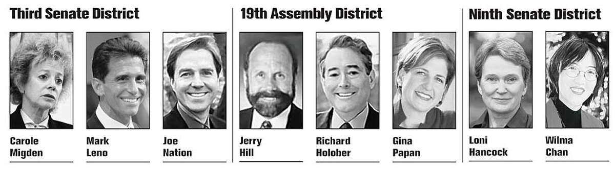California's statewide primary election candidates