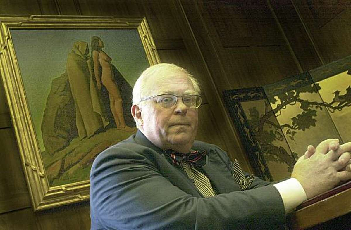 Caption History:CHANGE10-C-30JUL02-MN-PG changing california landscape in Sacto, interview with State Libraian Kevin Starr in his office with Painting behind him by Maynard Dixon. SAN FRANCISCO CHRONICLE PHOTO BY PENNI GLADSTONE Ran on: 09-14-2004 Kevin Starr Ran on: 09-14-2004 CHANGE10-C-30JUL02-MN-PG changing california landscape in Sacto, interview with State Libraian Kevin Starr in his office with Painting behind him by Maynard Dixon. SAN FRANCISCO CHRONICLE PHOTO BY PENNI GLADSTONE