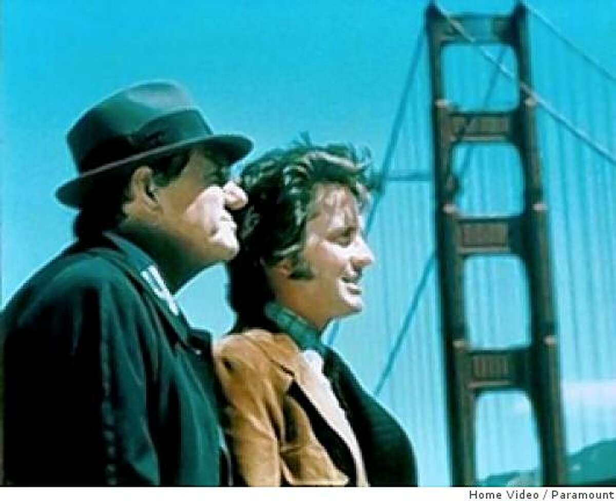 Karl Malden (left) and Michael Douglas in a still from TV show Streets of San Francisco.
