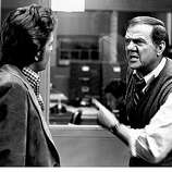 "FILE - In this TV publicity image originally released by ABC in 1975, Karl malden, right, and Michael Douglas are shown in a scene from, ""The Streets of San Francisco."" Malden, a former steelworker who won an Oscar for his role as Mitch in the 1951 classic ""A Streetcar Named Desire,"" died Wednesday, July 1, 2009. He was 97. (AP Photo/ABC, file)"