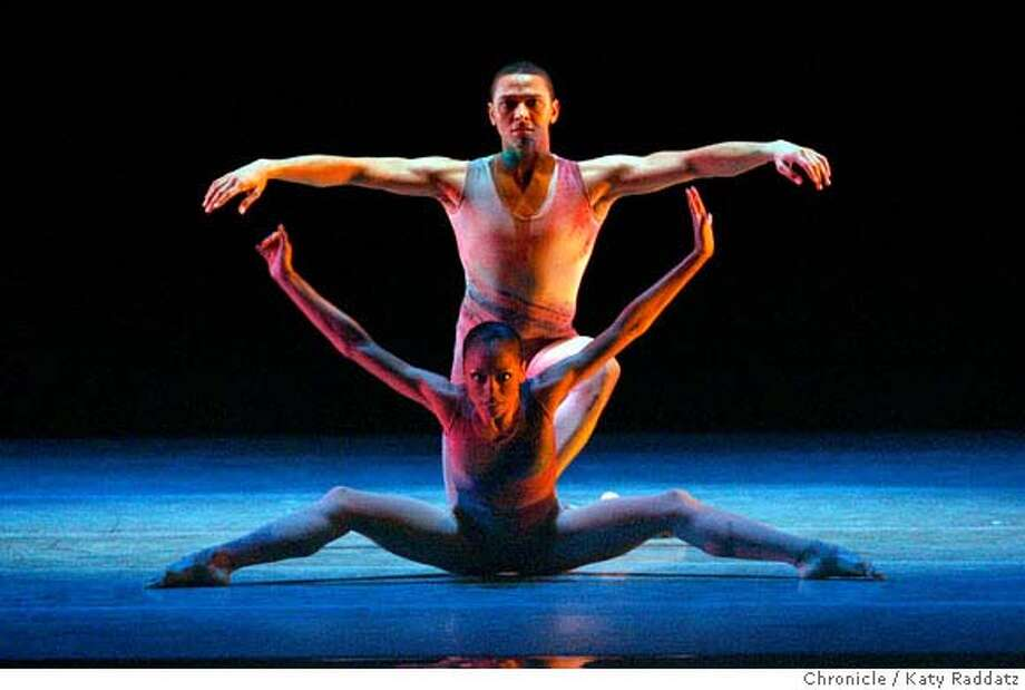 "Linda Celeste Sims and Clifton Brown perform ""Treading"" as the Alvin Ailey American Dance Theater begins a run at Zellerbach Hall in Berkeley, Calif. on Wednesday, March 5, 2008. .  Photo by Katy Raddatz / The San Francisco Chronicle Photo: KATY RADDATZ"