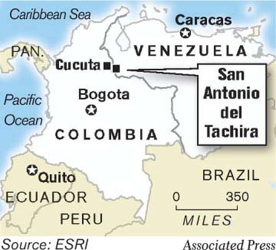 San Antonio del Tachira. Associated Press Graphic