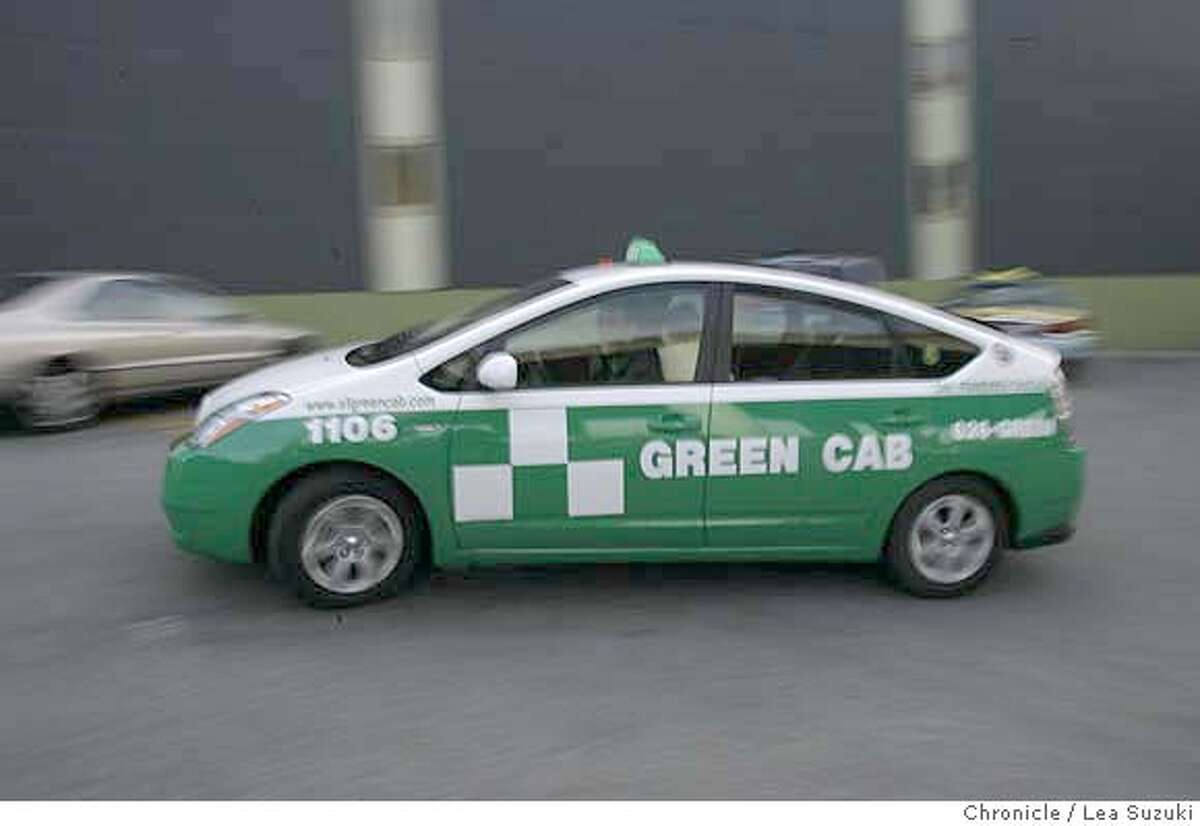 ###Live Caption:Mark Gruberg (driver, founder, board member) drives the first Green Cab through the yard. Green Cab is a new cab company forming in SF using only hybrids and alternative fuel vehicles. Photo taken on 4/25/07, in San Francisco, CA.###Caption History:greencab_036_ls.JPG Mark Gruberg (driver, founder, board member) drives the first Green Cab through the yard. Green Cab is a new cab company forming in SF using only hybrids and alternative fuel vehicles. Photo taken on 4/25/07, in San Francisco, CA. Photo by Lea Suzuki/ The Chronicle (Mark Gruberg)cq Ran on: 04-27-2007 Mark Gruberg, a co-owner of Green Cab, drives a Toyota Prius, the first of his environmentally friendly cabs. Ran on: 04-27-2007 Mark Gruberg, a co-owner of Green Cab, drives a Toyota Prius, the first of his environmentally friendly cabs. Ran on: 04-27-2007 Ran on: 04-27-2007 Ran on: 04-27-2007 Mark Gruberg, a co-owner of Green Cab, drives a Toyota Prius, the first of his environmentally friendly cabs.###Notes:###Special Instructions:MANDATORY CREDIT FOR PHOTOG AND SF CHRONICLE/NO SALES-MAGS OUT.