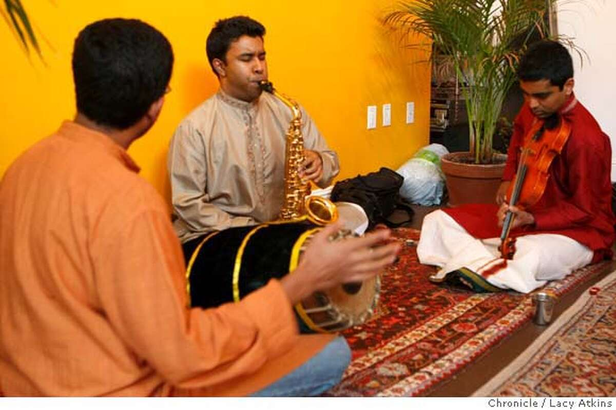 Saxophonist Prasanta Radhakrishnan from the group VidyA, plays at the Sangati Center , Sunday Feb. 17, 2008, in San Francisco, Cailf. Photo by Lacy Atkins / San Francisco Chronicle