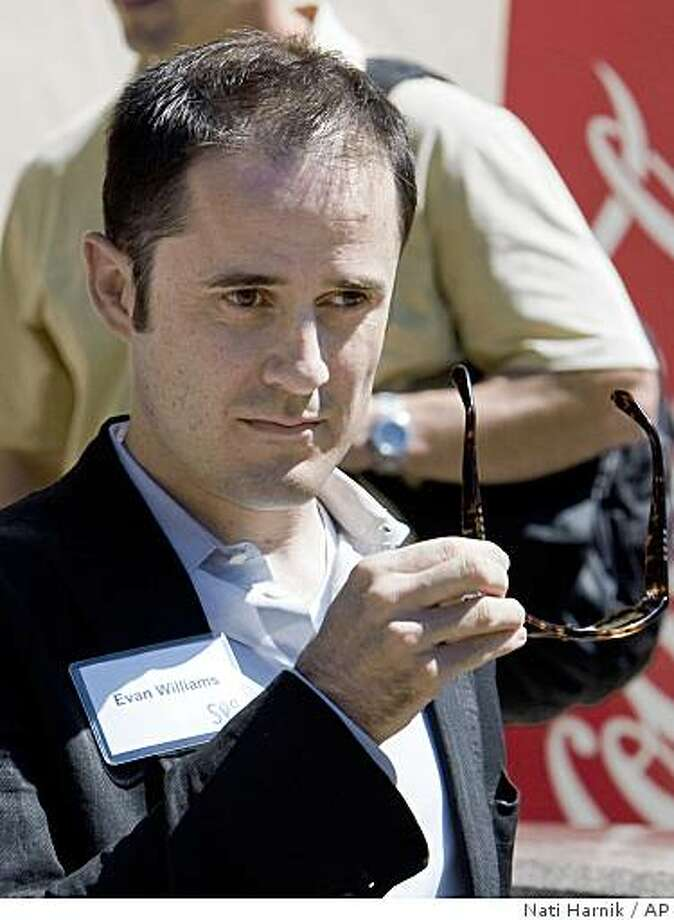 Twitter CEO and co-founder Evan Williams breaks for lunch at the annual Allen & Co.'s media summit in Sun Valley, Idaho, Friday, July 10, 2009. (AP Photo/Nati Harnik) Photo: Nati Harnik, AP