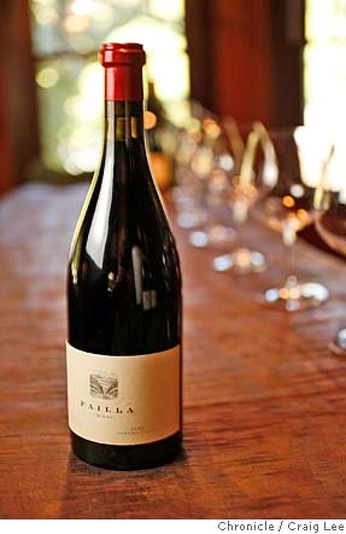 Syrah wine grapes grown in Pinot Noir areas. Photo of a bottle of 2006 Failla Syrah Sonoma Coast Estate Vineyard. photo by Craig Lee / The Chronicle MANDATORY CREDIT FOR PHOTOG AND SF CHRONICLE/NO SALES-MAGS OUT