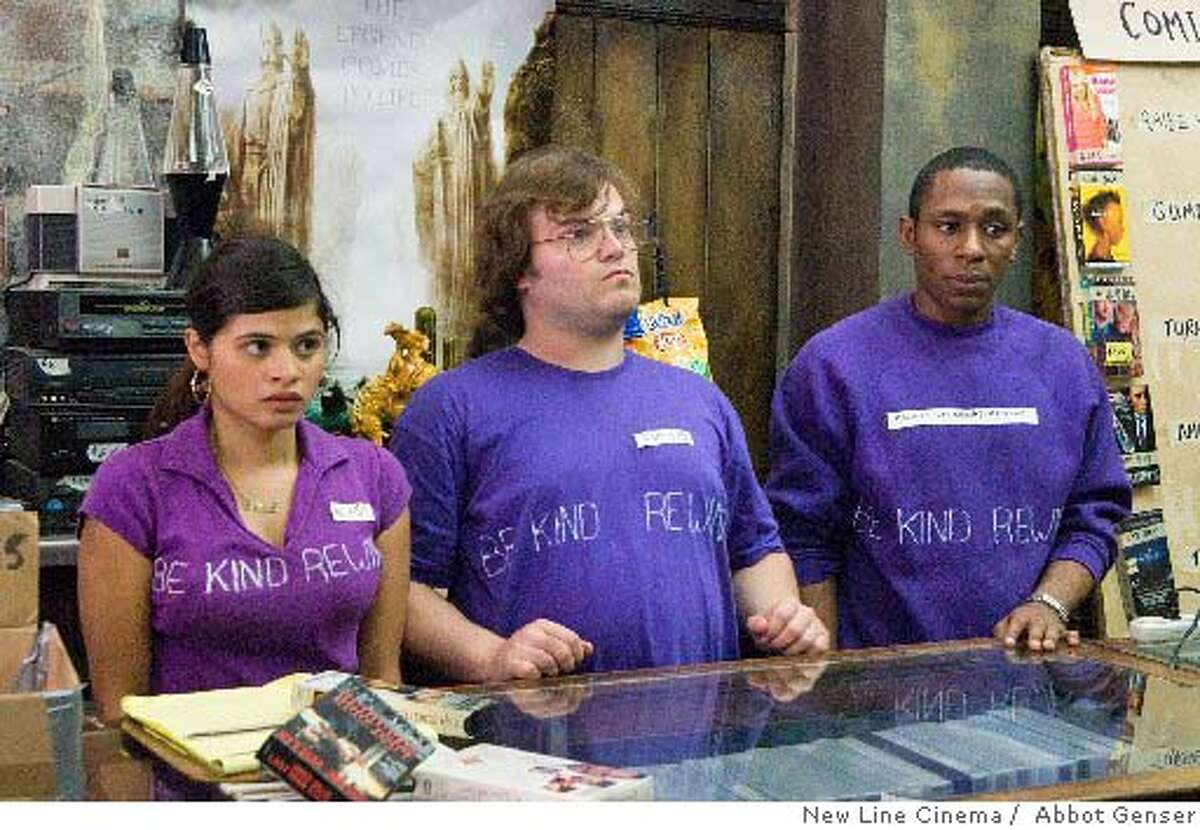 Melonie Diaz, Jack Black and Mos Def (from left) in Michel Gondry's