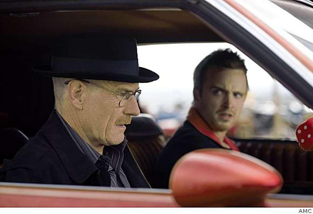 Walt White (Bryan Cranston) AND Jesse Pinkman (Aaron Paul) in AMC's