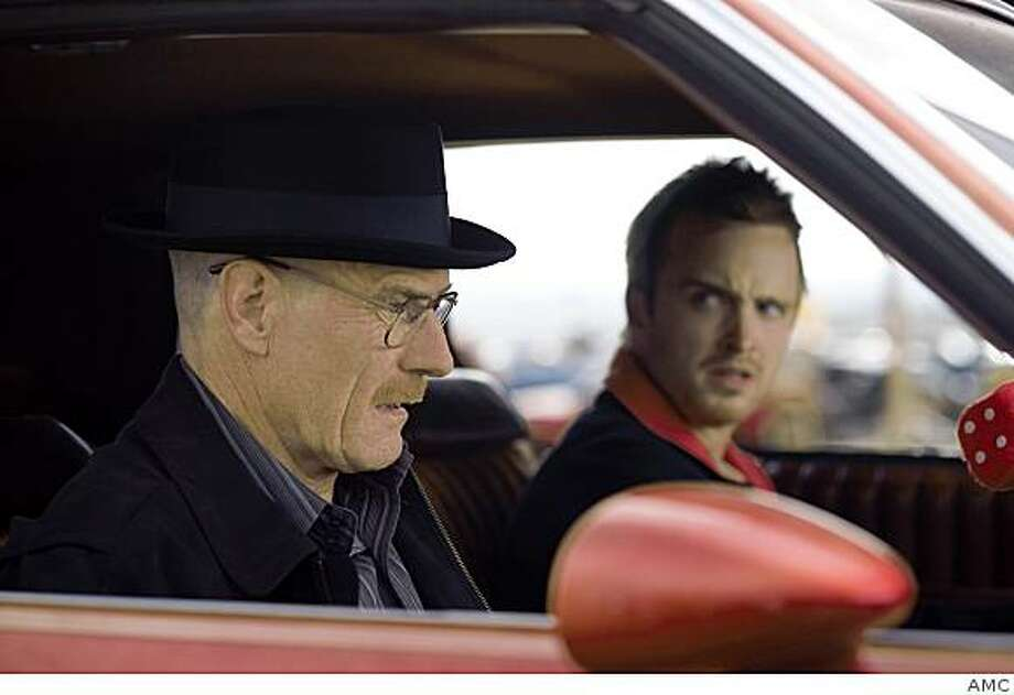 "Walt White (Bryan Cranston) AND Jesse Pinkman (Aaron Paul) in AMC's ""Breaking Bad."" Photo: AMC"