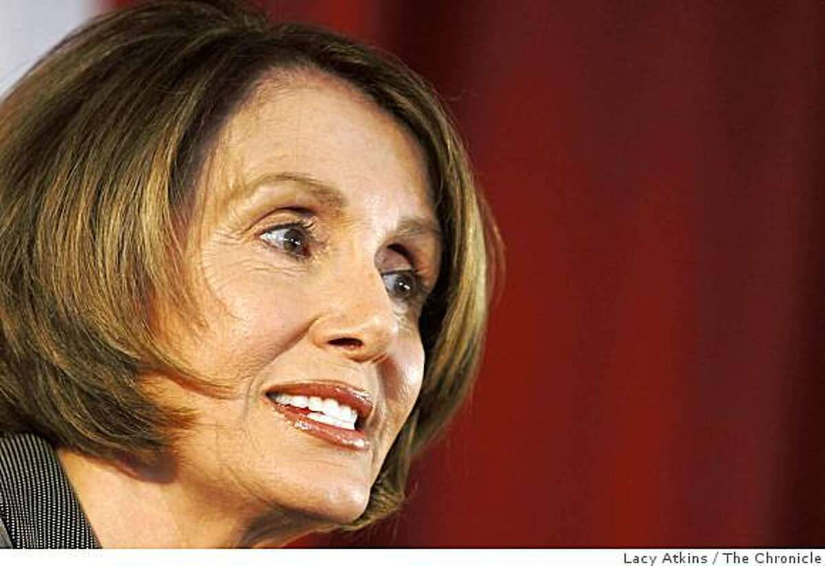 Speaker of the House Nancy Pelosi address the students at Martin Luther King Jr. Middle School, Thursday April 16, 2009, in San Francisco, Calif.
