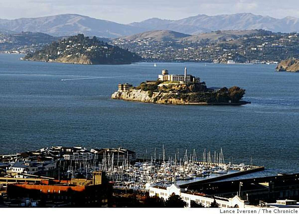 The infamous Alcatraz Island, San Francisco's most popular tourist attraction sits in the bay Between San Francisco and Sausalito and is refereed to as the Rock by locals. File photo dated May 13, 2008.