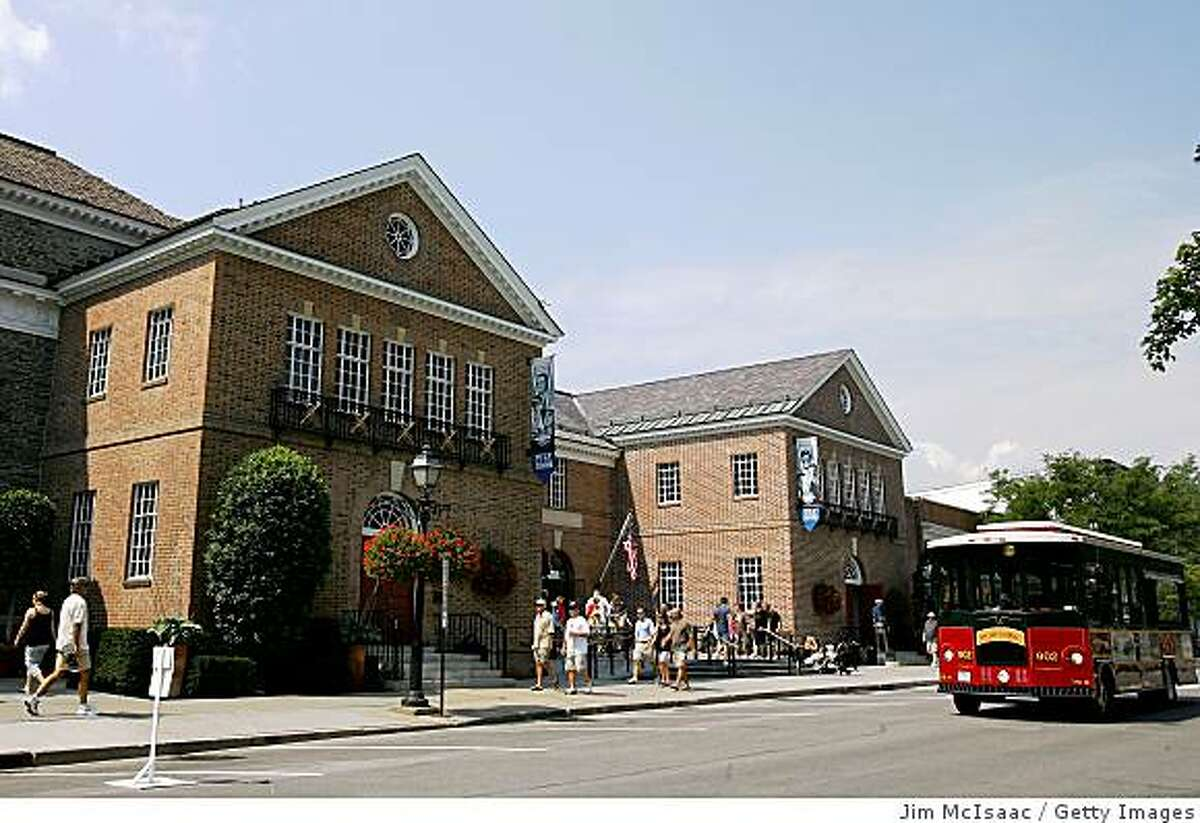 COOPERSTOWN, NY - JULY 26: The National Baseball Hall of Fame and Museum is seen during the Baseball Hall of Fame weekend on July 26, 2008 in Cooperstown, New York. (Photo by Jim McIsaac/Getty Images)
