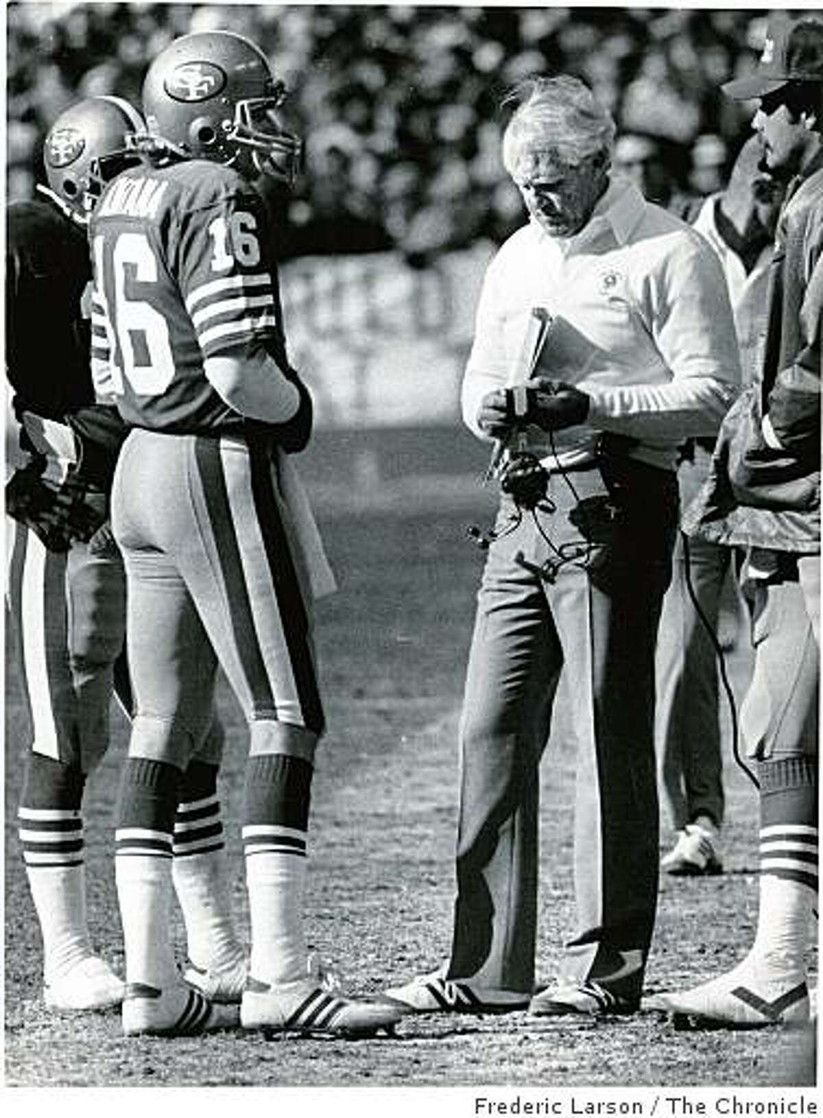 Coach Bill Walsh and quarterback Joe Montana guided the 49ers of 1984 to a 15-1 regular-season mark and a record 18 wins through Super Bowl XIX. Ran on: 12-28-2007