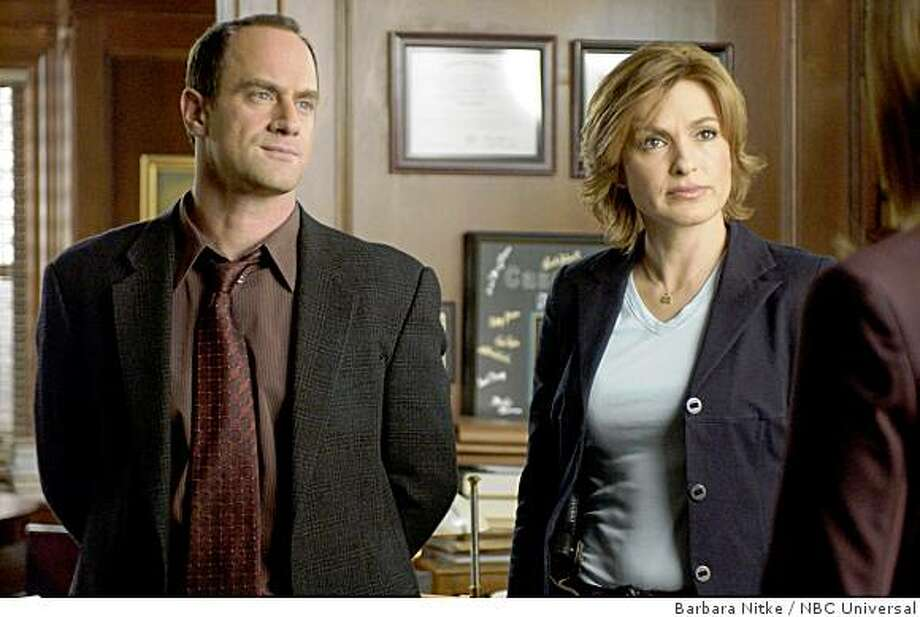 "LAW & ORDER: SPECIAL VICTIMS UNIT -- ""Ghost"" -- Pictured: (l-r) Christopher Meloni as Det. Elliot Stabler, Mariska Hargitay as Det. Olivia Benson -- NBC Universal photo: Barbara Nitke Photo: Barbara Nitke, NBC Universal"