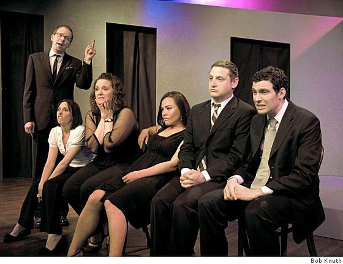 Cody Dove (left), Megan Wilkins, Dana Quercioli, Niki Lindgren, Tim Robinson and Mark Raterman of the Second City troupe