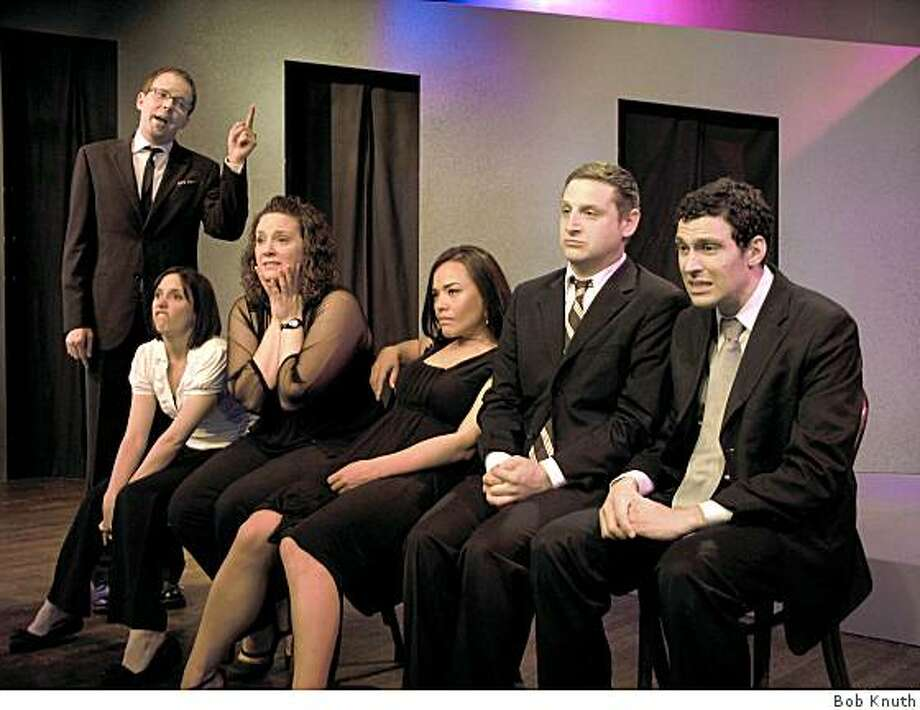 Cody Dove (left), Megan Wilkins, Dana Quercioli, Niki Lindgren, Tim Robinson and Mark Raterman of the Second City troupe Photo: Bob Knuth