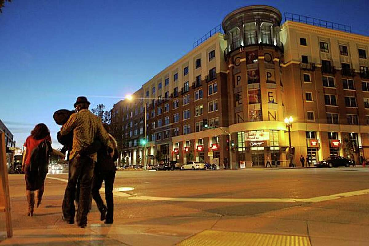 Originally built as a luxury condo complex, the Broadway Grand is now largely occupied renters on Wednesday June 3, 2009 in Oakland, Calif.