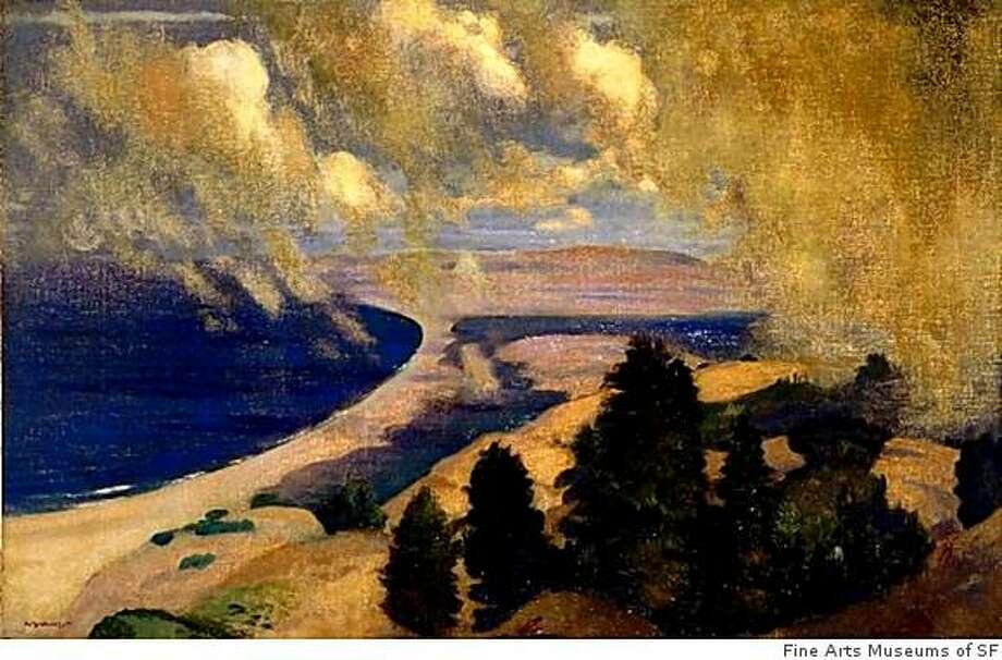 ÒPacific Parnassus, Mount TamalpaisÓ painted by East Coast visitor Arthur Bowen Davies around 1905. Photo: Fine Arts Museums Of SF