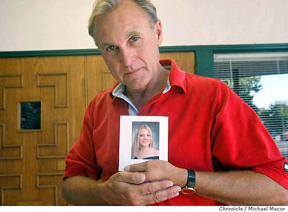 abortion017_mac.jpg Monty Patterson of Livermore, holds a photgraph of his 18 year old daughter Holly who died Wednesday after taking the pill ru486, in an affort to try and terminate a pregnany. 9/19/03 in Livermore. MICHAEL MACOR / The Chronicle Photo: MICHAEL MACOR