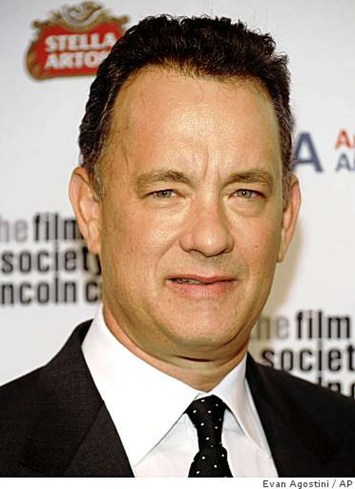 In this April 27, 2009 file photo, Tom Hanks attends The Film Society of Lincoln Center gala tribute to honoring him at Alice Tully Hall in New York.