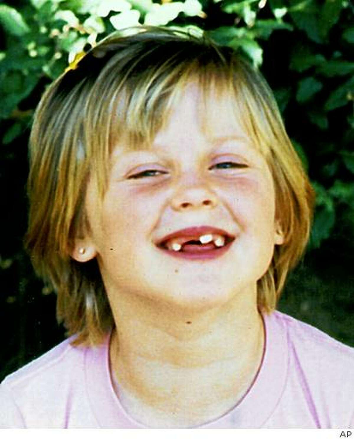 This 1988 photo provided by the family shows Amber Swartz. Police said Monday, July 6, 2009, that they've solved the mystery of what happened to Amber, who disappeared after going out to jump rope in front of her home 21 years ago. Pinole Police Chief Paul Clancy said Curtis Dean Anderson confessed in 2007, a month before dying in prison, that he kidnapped and killed Amber. (AP Photo/Family photo via Contra Costa Times)