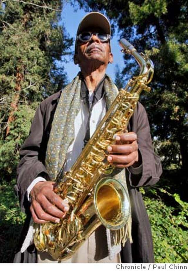 Jazz musician and Mills College professor Roscoe Mitchell and his saxophone in Oakland, Calif. on Wednesday, Feb. 13, 2008.  PAUL CHINN/San Francisco Chronicle Photo: PAUL CHINN