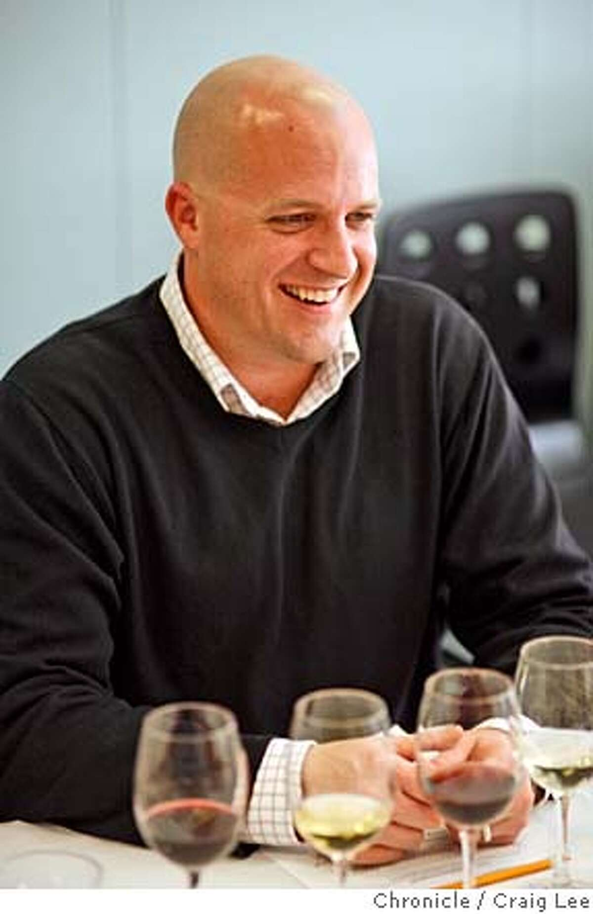 Photo of Jeff Berlin, sommelier at A Cote restaurant in Oakland. Blind taste test wine pairing with 6 sommeliers. photo by Craig Lee / The Chronicle MANDATORY CREDIT FOR PHOTOG AND SF CHRONICLE/NO SALES-MAGS OUT