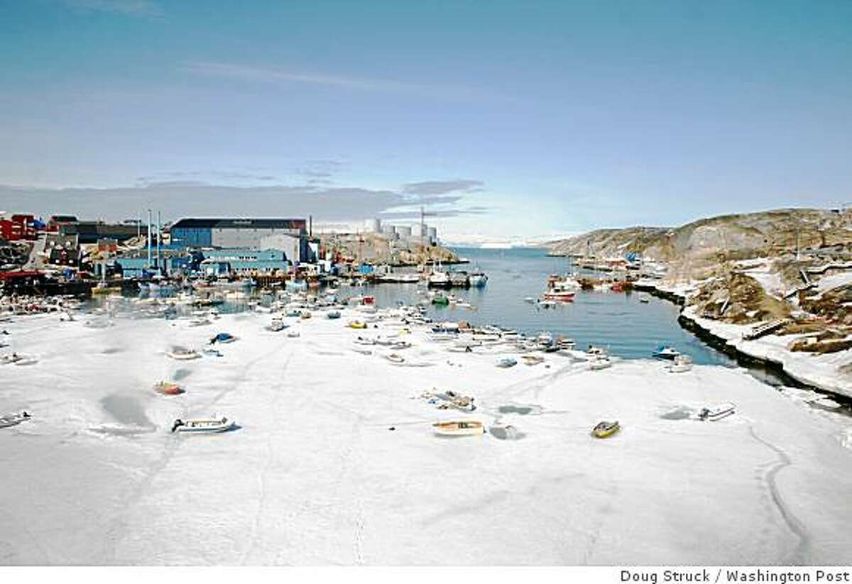 Melting ice in Ilulissat, Greenland, is drawing more attention to the possibilities of mining and transAtlantic transport in the Arctic.