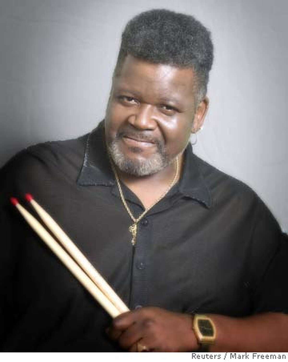 The late power drummer Buddy Miles is shown in this undated publicity photograph. Miles, who played with Jimi Hendrix in his short-lived group Band of Gypsys, died at his home in Austin, Texas on Wednesday, according to publicist Duane Lee on February 27, 2008. He was 60. Miles, a former teen prodigy, helped develop such musical forms as funk metal and acid jazz thanks to his work with such guitarists as John McLaughlin, Mike Bloomfield and Carlos Santana. In 1967, he and Bloomfield co-founded Electric Flag, whose rock-brass sound influenced Chicago and Blood, Sweat & Tears. REUTERS/Mark Freeman/Handout (UNITED STATES). NO SALES. NO ARCHIVES. FOR EDITORIAL USE ONLY. NOT FOR SALE FOR MARKETING OR ADVERTISING CAMPAIGNS.. SALESOUT NARCH EUO