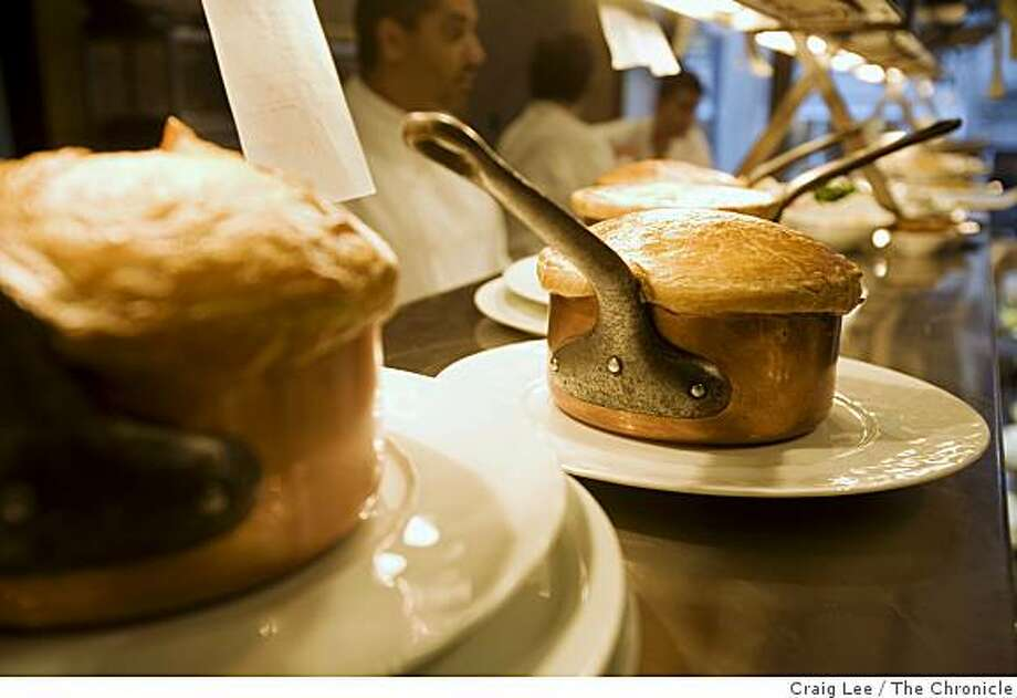 Lobster Pot Pie in the kitchen of Michael Mina restaurant, in the St. Francis Hotel, San Francisco, Calif., on April 9, 2008. Photo: Craig Lee, The Chronicle
