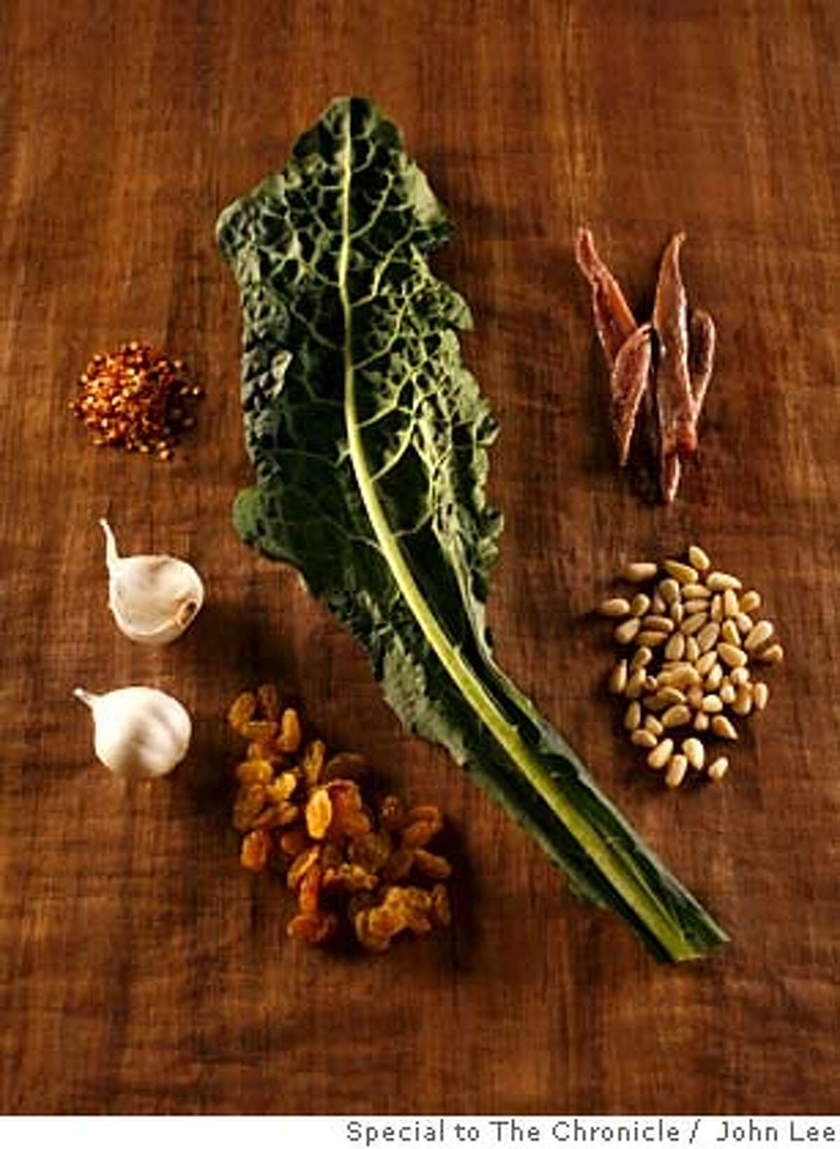 SEASONAL06_KALE_04_JOHNLEE.JPG Kale ingredients and individuals. By JOHN LEE/SPECIAL TO THE CHRONICLE Ran on: 02-20-2008 Sturdy Tuscan kale is also known as dinosaur kale, cavolo nero and lacinato kale.