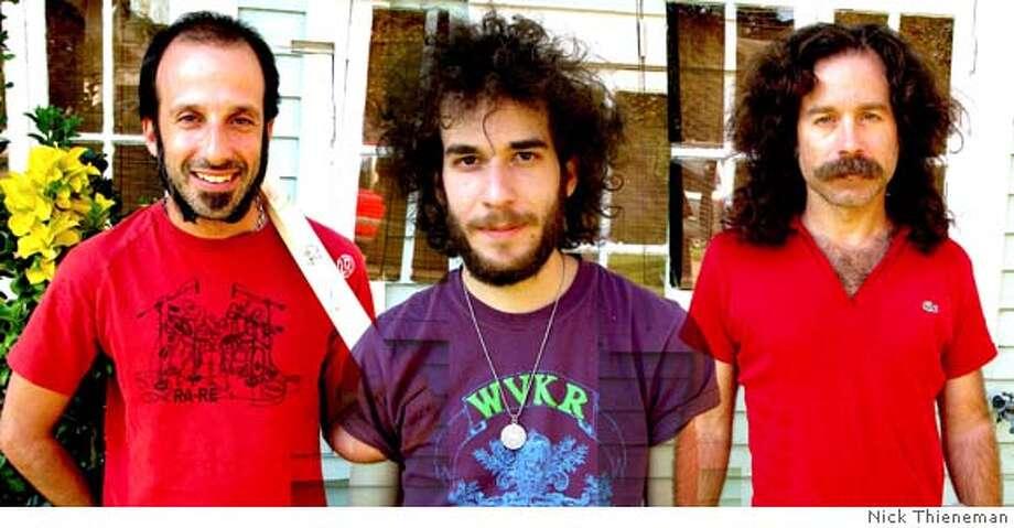 Promotional photo for the band Monotonix Pictured (l-r): Ran Shimoni, Yonatan Gat, Ami Shalev Photo � Nick Thieneman Photo: Nick Thieneman