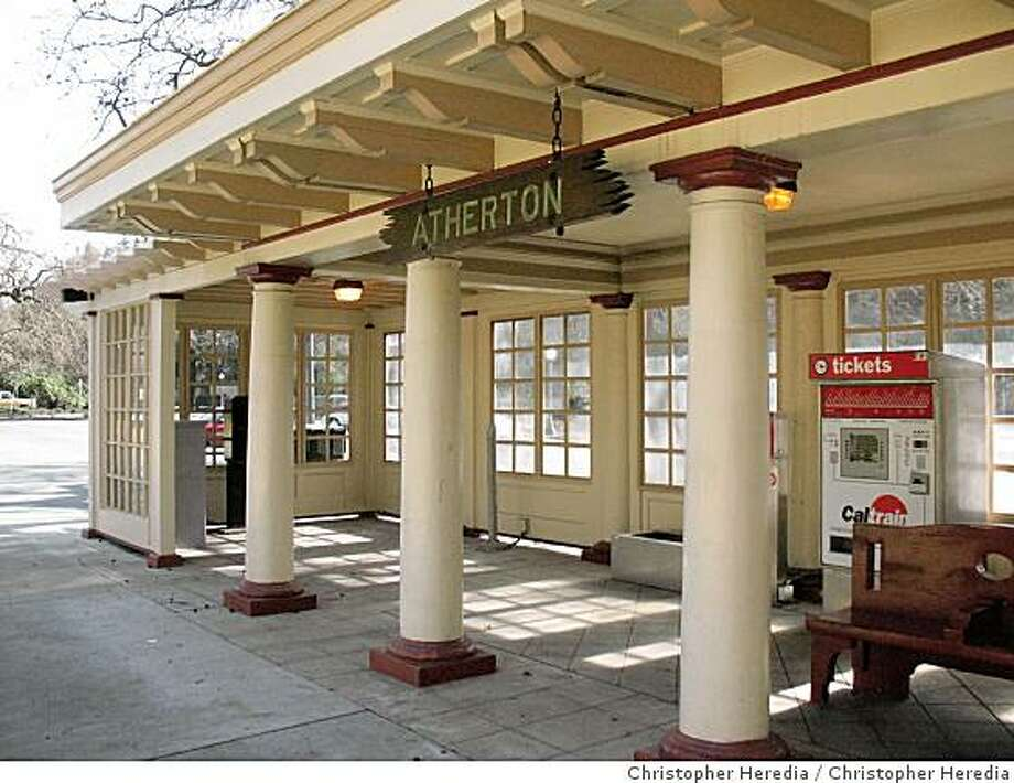 """After a fire shut it down last year, Caltrain has repaired and reopened the Atherton train station. Chronicle watch offers readers """"results"""" after featuring the debilitated structure last year Photo: Christopher Heredia"""