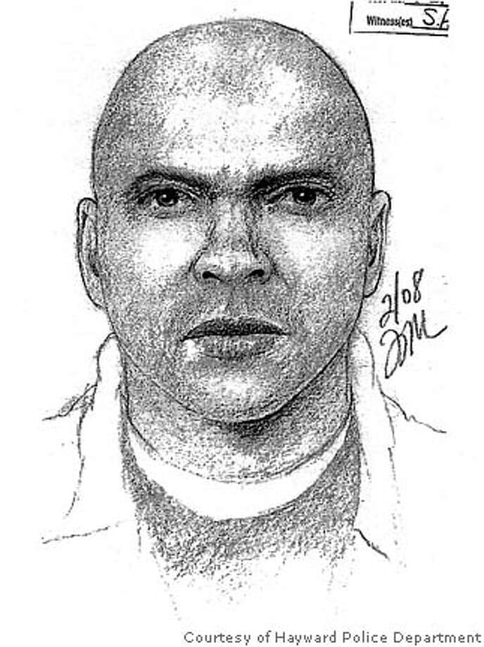Police sketch of a sexual assault suspect. Courtesy of Hayward Police Department