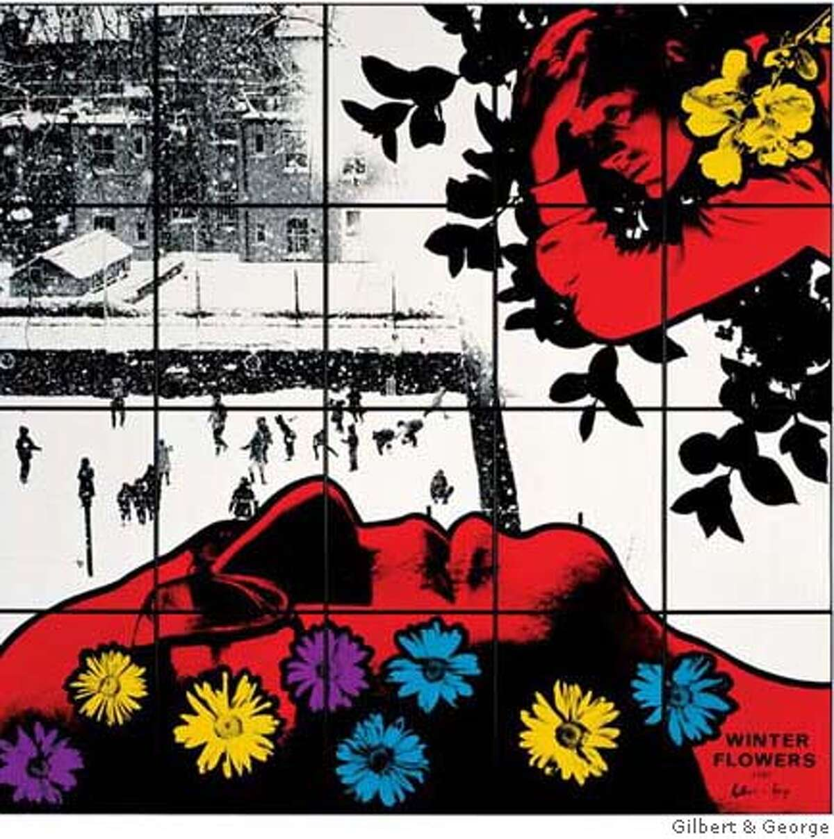 Gilbert & George, Winter Flowers, 1982. The Carol and Arthur Goldberg Collection. � Gilbert & George