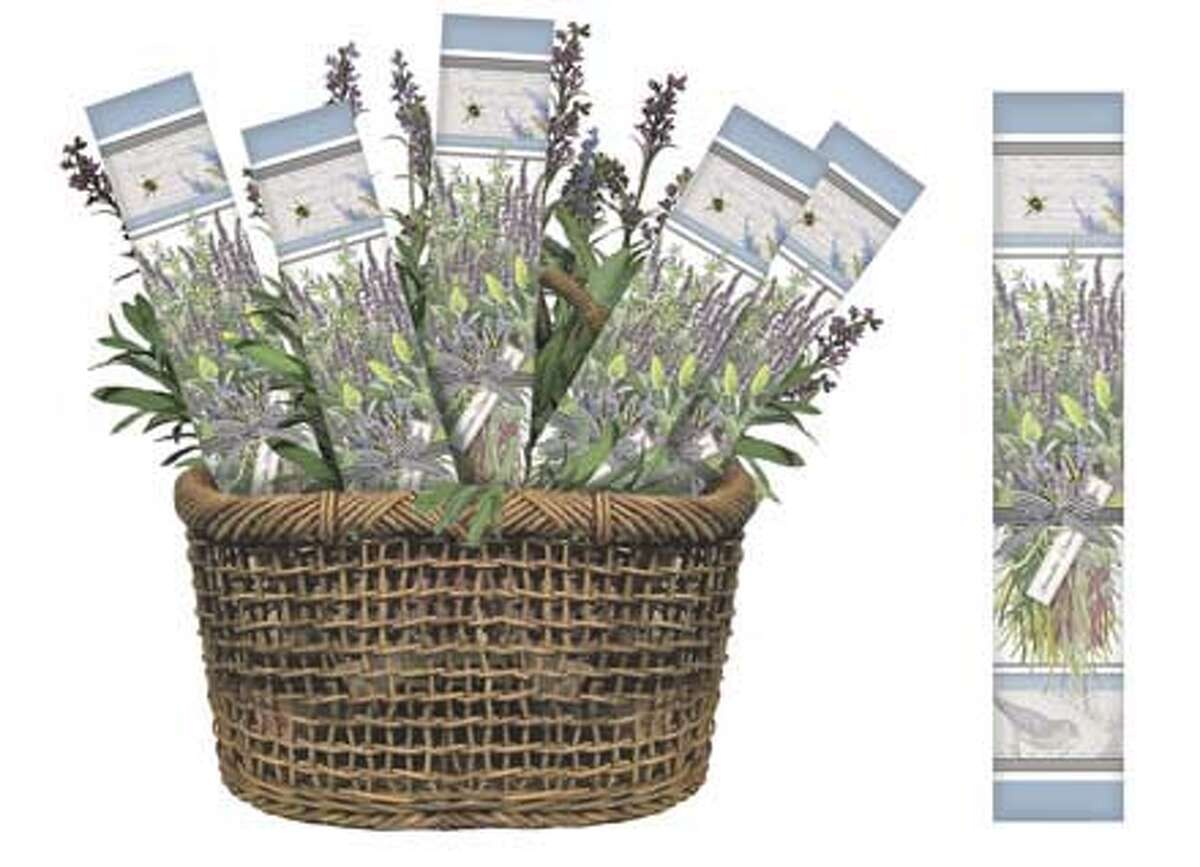 Lavender drawer liners from Mary Lake-Thompson, Oroville
