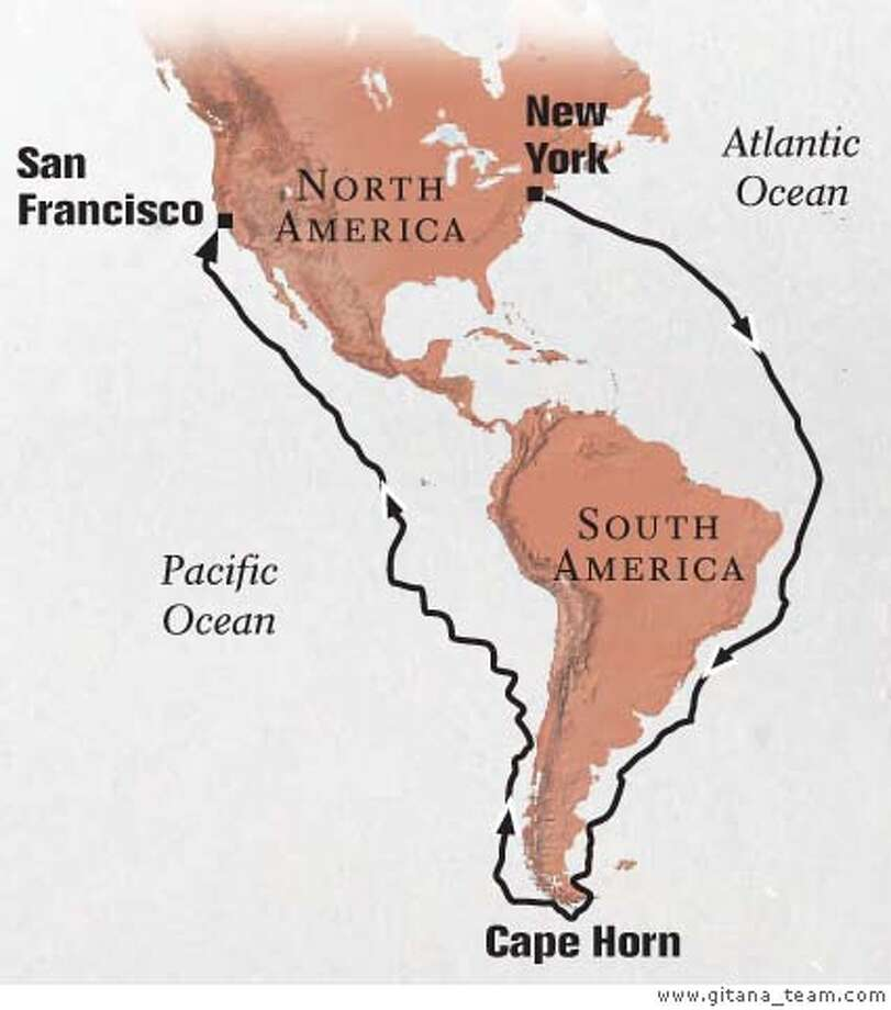 Gold Rush route. Graphic courtesy of www.gitana_team.com