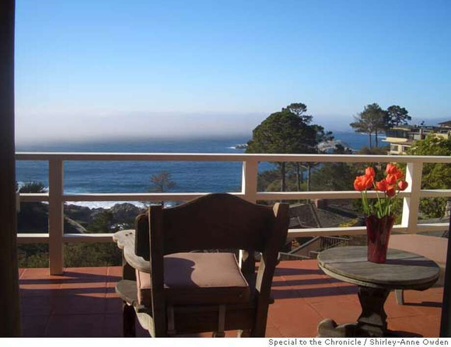 TRAVEL UNDER COVERS -- The view from the deck of the Tickle Pink Inn in Carmel Highlands (Monterey County). Feb. 2008. Photo by Shirley-Anne Owden / The Chronicle  (shot as freelancer) Photo: Shirley-Anne Owden