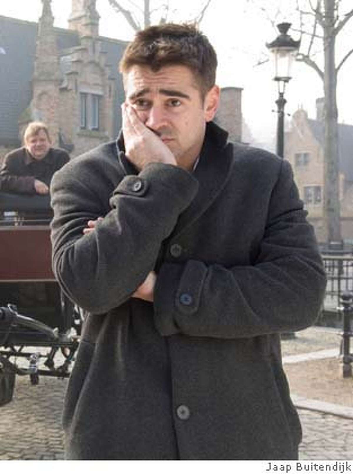 Colin Farrell plays an out-of-place hitman on location in a quaint Belgian city in Martin McDonaghs action-comedy,