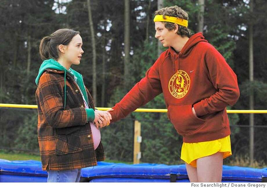 "** FILE ** In this image released by Fox Searchlight, actors Michael Cera, right, and Ellen Page are shown in scene from the film ""Juno"". (AP Photo/Fox Searchlight, Doane Gregory) ** NO SALES ** Ran on: 01-24-2008  Ellen Page and Michael Cera have plenty to talk about in the Oscar-nominated teen pregnancy film &quo;Juno.&quo;  Ran on: 01-24-2008  Ellen Page and Michael Cera have plenty to talk about in the Oscar-nominated teen pregnancy film &quo;Juno.&quo;  Ran on: 01-24-2008  Ellen Page and Michael Cera have plenty to talk about in the Oscar-nominated teen pregnancy film &quo;Juno.&quo;  Ran on: 01-24-2008  Ellen Page and Michael Cera have plenty to talk about in the Oscar-nominated teen pregnancy film &quo;Juno.&quo; Photo: Doane Gregory"