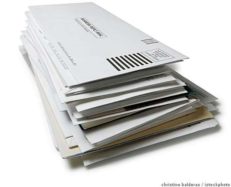 Stock photo of junk mail for the July 20 issue of the Green section. please credit christine balderas / istockphotos.com Ran on: 07-20-2007 Photo: Christine Balderas / Istockphoto