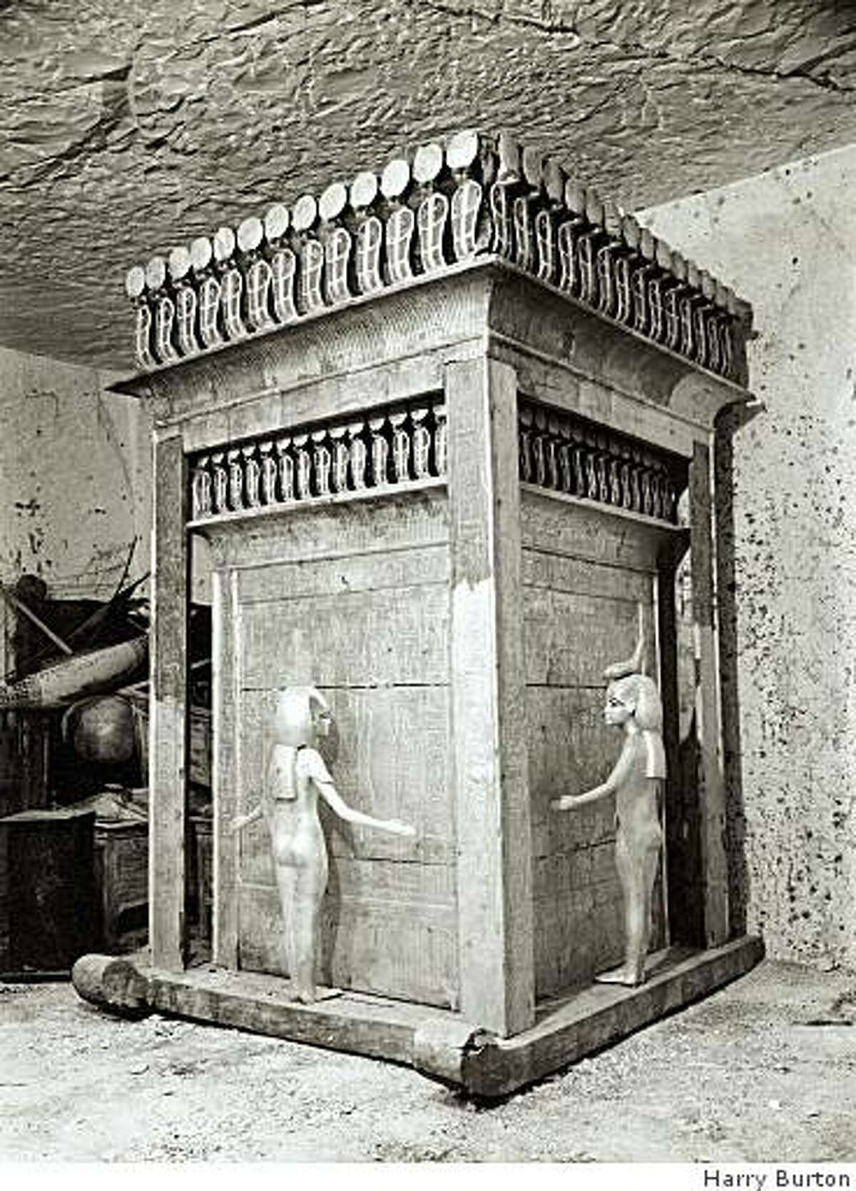The canopic shrine of Tutankhamun. Photo by Harry Burton.The Metropolitan Museum of Art, Archives of the Department of Egyptian Art. Image � The Metropolitan Museum of Art