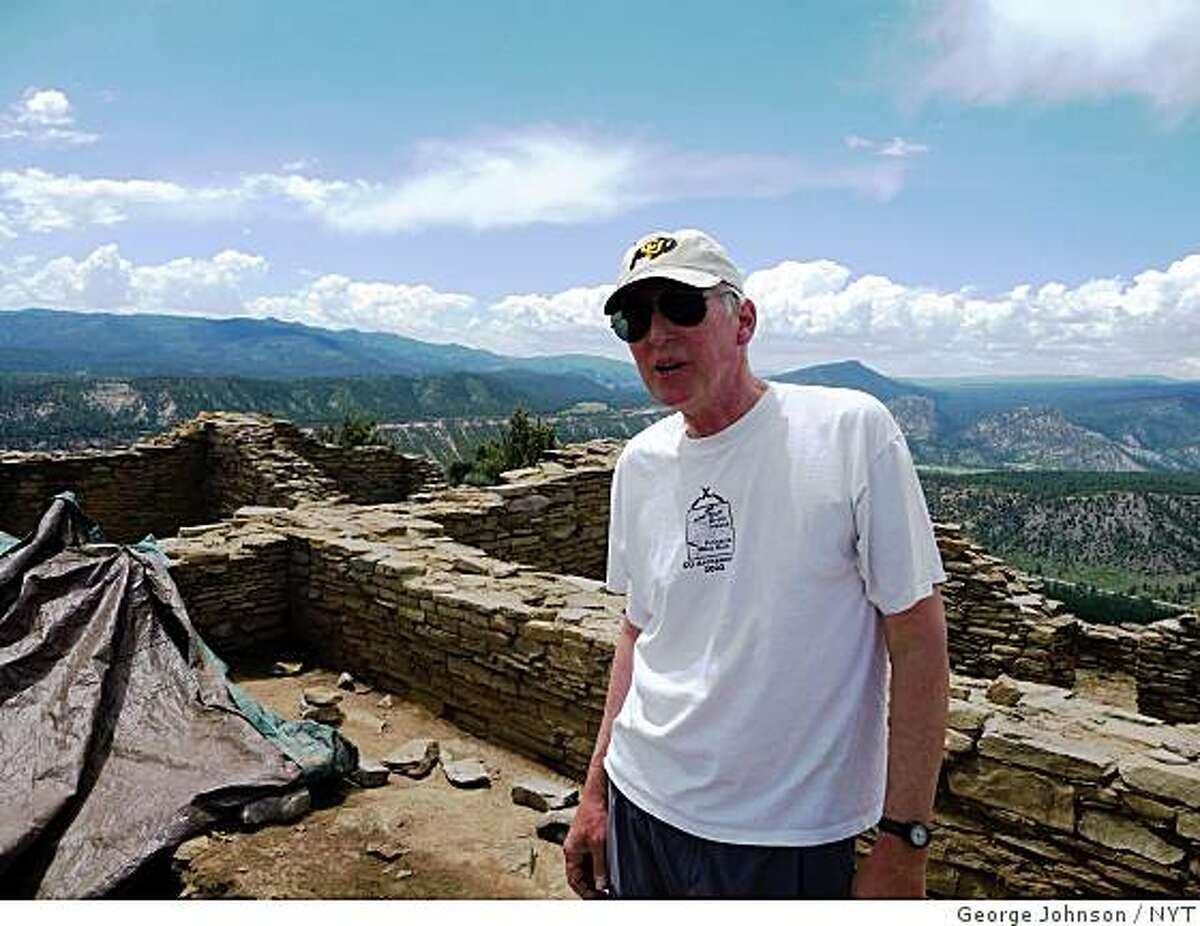 Stephen Lekson at a archaeological dig Chimney Rock, June 28, 2009. (George Johnson/The New York Times)